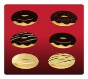 6 ανάμεικτα Doughnuts Στοκ φωτογραφίες με δικαίωμα ελεύθερης χρήσης