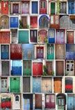 ανάμεικτες πόρτες Στοκ φωτογραφία με δικαίωμα ελεύθερης χρήσης
