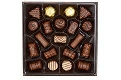 Ανάμεικτες σοκολάτες κιβωτίων τοπ άποψης Στοκ εικόνα με δικαίωμα ελεύθερης χρήσης