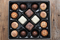ανάμεικτες σοκολάτες κιβωτίων Στοκ εικόνες με δικαίωμα ελεύθερης χρήσης