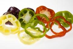 ανάμεικτες φέτες πιπεριών  Στοκ Εικόνα