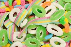 Ανάμεικτες gummy καραμέλες r Γλυκά ζελατίνας στοκ εικόνα με δικαίωμα ελεύθερης χρήσης