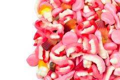 Ανάμεικτες gummy καραμέλες r Γλυκά ζελατίνας στοκ εικόνες