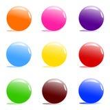 ανάμεικτο χρώμα σφαιρών απεικόνιση αποθεμάτων