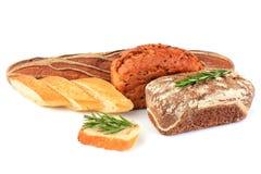 Ανάμεικτο ψωμί σύνθεσης με το δεντρολίβανο κλαδάκι Στοκ φωτογραφίες με δικαίωμα ελεύθερης χρήσης