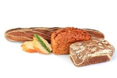 Ανάμεικτο ψωμί σύνθεσης Στοκ φωτογραφίες με δικαίωμα ελεύθερης χρήσης