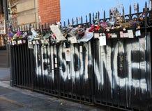 Ανάμνηση του David Bowie Στοκ φωτογραφία με δικαίωμα ελεύθερης χρήσης