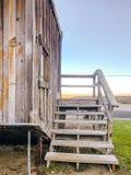 Ανάποδα σκαλοπάτια σπιτιών του Lee Vining Καλιφόρνια στοκ εικόνα με δικαίωμα ελεύθερης χρήσης