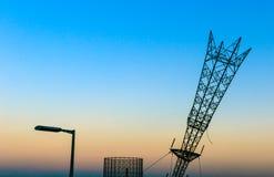 Ανάποδος πυλώνας ηλεκτρικής ενέργειας στο Γκρήνουιτς Στοκ Φωτογραφίες