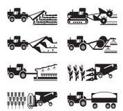 Ανάπτυξης συγκομιδής και συγκομιδή της γεωργίας διανυσματική απεικόνιση