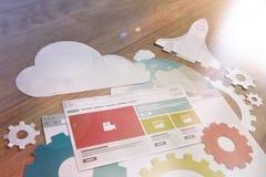 Ανάπτυξη ιστοχώρου και έννοια SEO Στοκ Εικόνα
