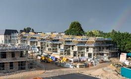 Ανάπτυξη νέας οικοδόμησης κάτω από την κατασκευή Στοκ Εικόνες
