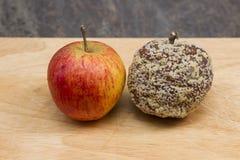 Ανάπτυξη φορμών επάνω και μήλο Στοκ Φωτογραφίες