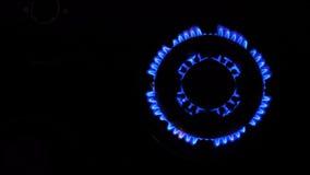 Ανάφλεξη φυσικού αερίου απόθεμα βίντεο