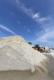 Ανάχωμα άμμου αμμοχάλικου Στοκ φωτογραφία με δικαίωμα ελεύθερης χρήσης