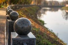 Ανάχωμα βραδιού στο πάρκο Στοκ εικόνες με δικαίωμα ελεύθερης χρήσης