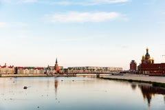 Ανάχωμα Μπρυζ Yoshkar-Ola, Ρωσία Στοκ εικόνες με δικαίωμα ελεύθερης χρήσης