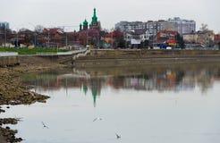 Ανάχωμα ποταμών Στοκ φωτογραφία με δικαίωμα ελεύθερης χρήσης