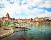 Ανάχωμα στη Λωζάνη Στοκ φωτογραφίες με δικαίωμα ελεύθερης χρήσης