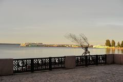 Ανάχωμα στο Petrozavodsk Στοκ εικόνες με δικαίωμα ελεύθερης χρήσης