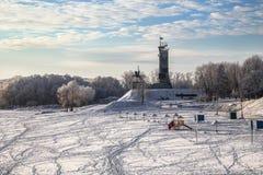 Ανάχωμα της Sofia του ποταμού Volkhov Στοκ φωτογραφία με δικαίωμα ελεύθερης χρήσης