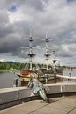 Ανάχωμα του Αλεξάνδρου Nevsky σε Novgorod ο μεγάλος (Veliky Novgorod) Ρωσία Στοκ Εικόνες