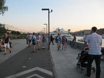 Ανάχωμα του ποταμού της Μόσχας Στοκ Εικόνες