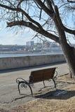 Ανάχωμα του ποταμού Angara Στοκ εικόνα με δικαίωμα ελεύθερης χρήσης
