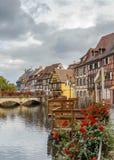 Ανάχωμα του ποταμού Lauch, Colmar, Γαλλία Στοκ Φωτογραφία