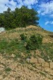 Ανάχωμα Chetinyova στη archeological περιοχή Starosel, Βουλγαρία Στοκ Εικόνα