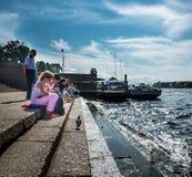 Ανάχωμα Neva, Αγία Πετρούπολη, Ρωσία Στοκ Φωτογραφία