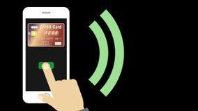 Ανέπαφη πληρωμή Smartphone και πιστωτικών καρτών διανυσματική απεικόνιση