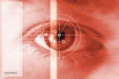 ανίχνευση ίριδων ματιών Στοκ φωτογραφία με δικαίωμα ελεύθερης χρήσης