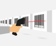 Ανίχνευση γραμμωτών κωδίκων διανυσματική απεικόνιση