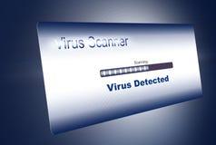 Ανίχνευση ιών διανυσματική απεικόνιση