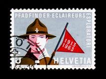Ανίχνευση με τη σημαία, Ελβετός που serie, circa 1963 Στοκ φωτογραφία με δικαίωμα ελεύθερης χρήσης