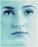 ανίχνευση προσώπου ματιών Στοκ Εικόνες