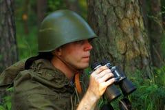 Ανίχνευση στο δάσος Στοκ εικόνες με δικαίωμα ελεύθερης χρήσης