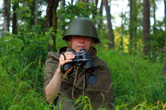 Ανίχνευση στο δάσος Στοκ εικόνα με δικαίωμα ελεύθερης χρήσης