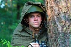 Ανίχνευση στο δάσος Στοκ Εικόνες