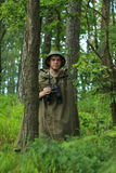 Ανίχνευση στο δάσος Στοκ Εικόνα