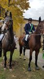 Αναβάτες αλόγων στο πανεπιστήμιο του kosice Σλοβακία 14-10-2017 Στοκ εικόνες με δικαίωμα ελεύθερης χρήσης