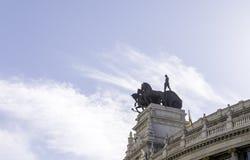 Αναβάτες στεγών της Μαδρίτης Στοκ Φωτογραφίες
