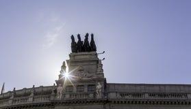 Αναβάτες στεγών της Μαδρίτης Στοκ φωτογραφία με δικαίωμα ελεύθερης χρήσης