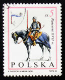 Αναβάτης αλόγων, ιππότης, XVII αιώνας, circa 1983 Στοκ φωτογραφίες με δικαίωμα ελεύθερης χρήσης