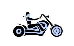 Αναβάτης μοτοσικλετών απεικόνιση αποθεμάτων