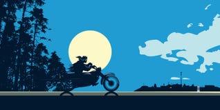 Αναβάτης νύχτας διανυσματική απεικόνιση