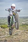 Αναβάτης ποδηλάτων δοκιμών στοκ εικόνα με δικαίωμα ελεύθερης χρήσης