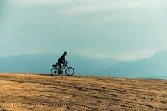 Αναβάτης ποδηλάτων ποδηλάτων BicMountain Στοκ φωτογραφία με δικαίωμα ελεύθερης χρήσης