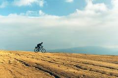 Αναβάτης ποδηλάτων ποδηλάτων BicMountain Στοκ Εικόνα